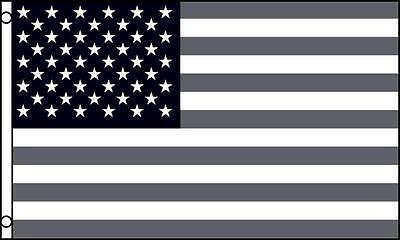 AMERICAN BLACK AND GRAY UNITED STATES 3 X 5 FLAG banner FL698 USA AMERICA