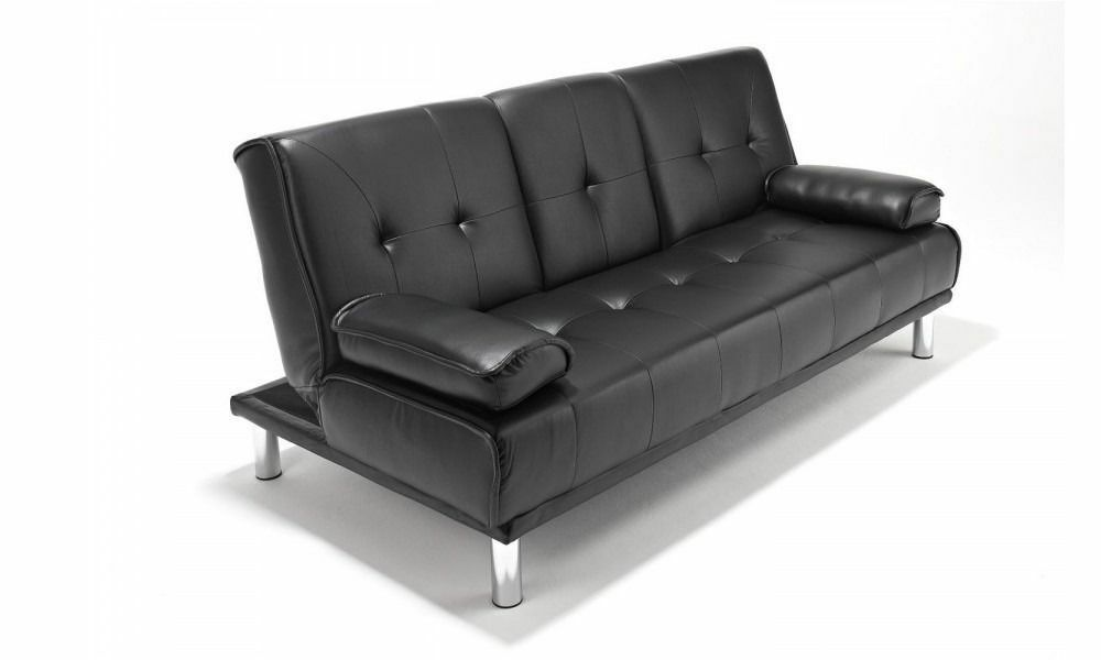**CINEMA STYLE** Brand New 3 Seater Leather Sleeper