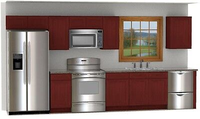 Cherry Stained Cabinets 14' Layout or quick quote for your dimensions