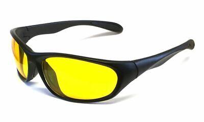 Calabria 2715 Night Driving Sport Sunglasses Yellow Tint Lenses 3 Color (Sunglasses Yellow Tint)