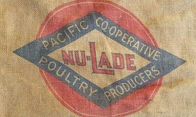 1920s Style Purses, Flapper Bags, Handbags 1920s Burlap Sack Bag Pacific Co-Op Poultry Rustic Primitive Portland Oregon Vtg $22.99 AT vintagedancer.com