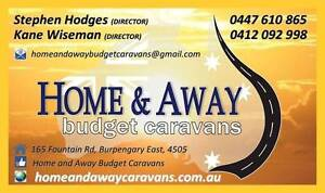 HOME AND AWAY BUDGET CARAVANS vans and camper trailers from $3299 Burpengary Caboolture Area Preview