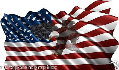 36X60 American Flag Eagle #3 Window RV Trailer Decal Decals Graphics Wall Art