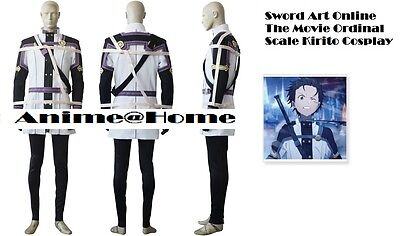 New Top Quality Sword Art Online The Movie: Ordinal Scale Kirito Cosplay Costume](Quality Costumes Online)