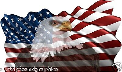 24X40 American Flag Eagle #1 Window RV Trailer Decal Decals Graphics Wall Art