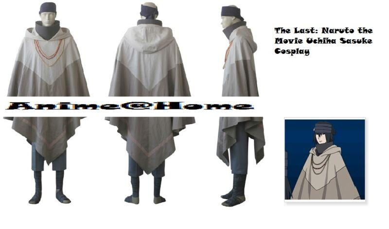 New Top Quality The Last: Naruto the Movie Uchiha Sasuke Cosplay Costume S-XXL