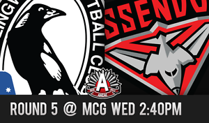 4x Anzac Essendon v Collingwood Officer Cardinia Area Preview