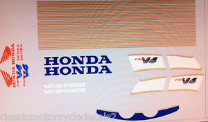 HONDA NC30 VFR400R DECAL SET