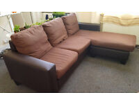 Compact corner sofa, free to collect