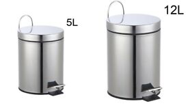 Sturdy Stainless Steel Step Bin in 5L and 12L