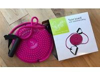 Davina McCall Exercise Twist Board with Resisting Tubes