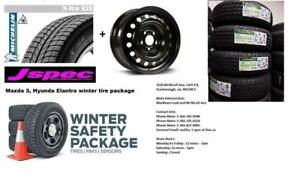 2014 2015 2016 2017 2018 Mazda 3 hyundai Elantra winter tire package 205/60R16 $600 cash n carry