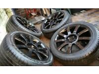 "Audi Volkswagen Alloys 17"" 17 inch 5x100 5x112 Alloy Wheels"