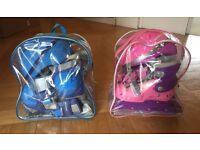 2 Dunlop Skate Sets Blue and Pink: Size 1.5-4