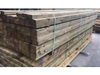 """🌲 Pressure Treated Wooden/ Timber Lengths 4""""x 2"""" x 3.6m"""