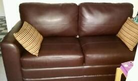 Leather Sofa Bed As New