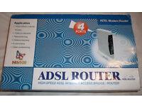 ADSL 4 Port modem router