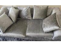 Two+three velvet sofa