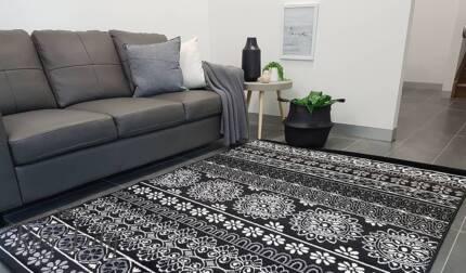 NEW!!! Small Bohemian Black Floor Rug