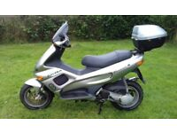 Classic Gilera Runner DD 2T - fast 50cc derestricted scooter - VGC - Silver
