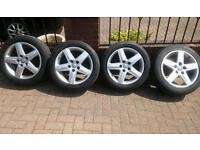 """GENUINE AUDI 17"""" ALLOYS AND TYRES"""