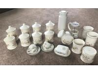 Job lot of storage jars