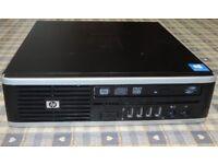 HP COMPAQ 8000 ELITE MINI PC, 128GB SOLID STATE DRIVE, WINDOWS 10 PRO, 4GB RAM, E5800 3.2 x 3.2 CPU