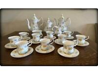 Royal Albert Val D'Or 'Butterflies' Bone China England Tea Service