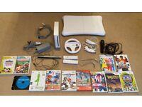 Nintendo Wii, games and balance board