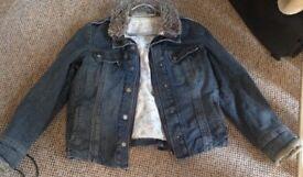 Winter denim lined jacket size 16