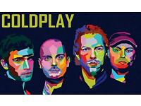 2 x Coldplay tickets - 11th July - Cardiff