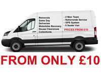 Man and Van for hire - Removals - House Clearances - Deliveries - Collections - Motorbike Recovery