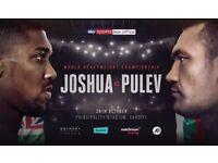 3x Anthony Joshua Vs Kubrat Pulev Fight Tickets!