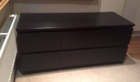 Ikea Malm Wenge (Dark Wood) Chest of Drawers