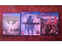 Job lot for sale 3 epic award winning PS4 games .