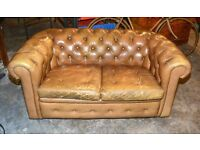 Chesterfield style two seater vintage antique sofa retro living room chair