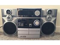 Sharp Mini Component Music System Hifi Cassette Tape CD Radio