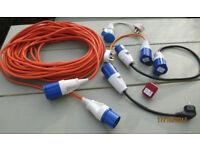 Hook up caravan/motorhome cables