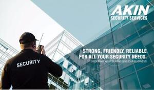 Looking for Security Guards ? Private Investigation? Mall cop  Private Security – call Akin Force-  416-456-8076