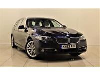 BMW 5 SERIES 2.0 520D LUXURY TOURING 5d AUTO 181 BHP + 0% DEPOS (blue) 2013