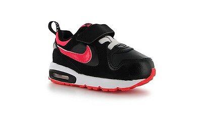 New Nike Air Max Trax  Tdv  Black Hyper Punch White Pink 644474 003