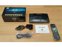 Skybox S V8 Satellite TV Box, New and Boxed with Remote, HDMI Cable etc