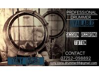 DRUMMER AVAILABLE!! for SESSION, RECORDING, ADVERTISING , WEDDING - Glasgow city centre