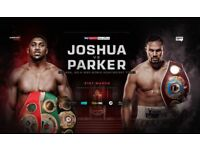Joshua vs Parker tickets 5 available in Upper tier 2, row 21 all next to eachother. Price is each.