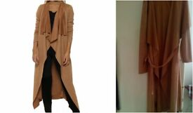 Waterfall Faux Suede Coat