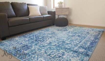 NEW!!! X Large Blue Power Loomed Floor Rug