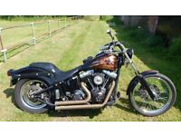 Harley Davidson Softail FXSTi. Mildly customised 2004