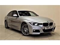 BMW 3 SERIES 2.0 320D M SPORT 4d AUTO 181 BHP + SAT NAV + AIR C (silver) 2015