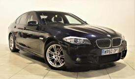 BMW 5 SERIES 2.0 520D M SPORT 4d AUTO 181 BHP + 2 PREV OWNERS + SERVICE HISTORY (black) 2010