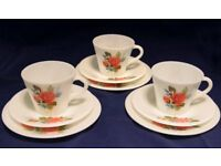Pyrex,cups Saucers and plates